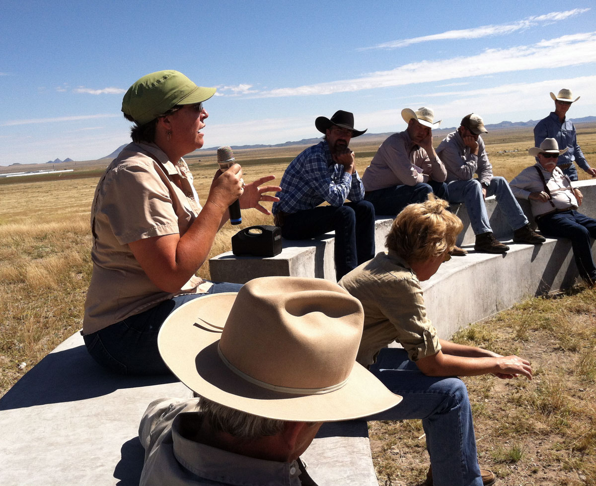 Professor Bonnie Warnock discusses research she and her range management students have conducted at Mimms Unit.