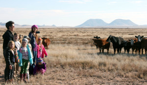Herds of kids and cows had a close encounter during the Marfa International School's outdoor education program at the Dixon Water Foundation's Mimms Unit last week. Students from kindergarten through eighth grade learned about desert grasslands and sustainable land management through science projects and presentations by local experts.
