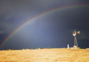 Rainbow over Mimms windmill
