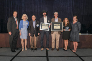 Dixon Water Foundation staff and board members receive the Leopold Conservation Award at the 22nd Lone Star Land Steward Awards ceremony in Austin on May 18th. (Photo by Texas Park and Wildlife Department)